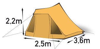 3 persoons tent