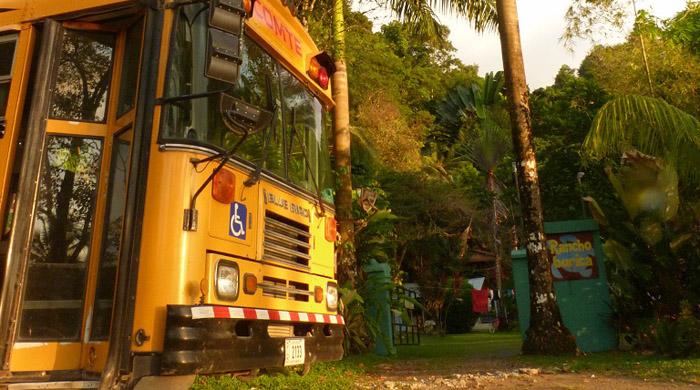 De bus naar de Rancho