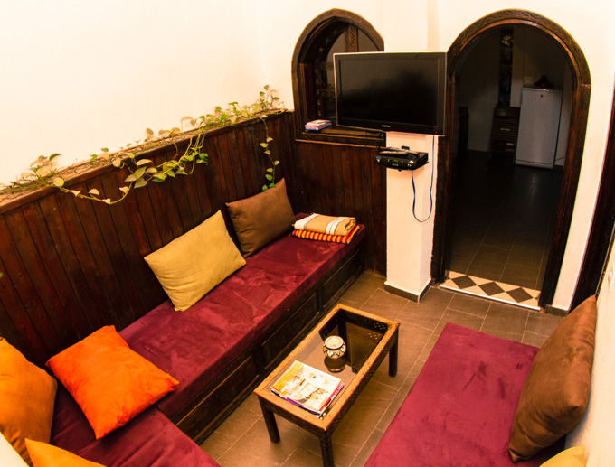 taghazout appartement woonkamer
