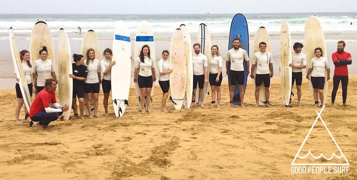 Zarautz surfles groep